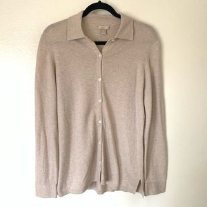 Nordstrom cashmere collared cardigan medium